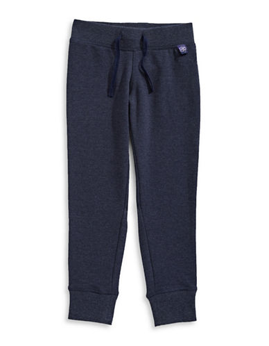 Jill Yoga Stretch Cotton Joggers-BLUE-5