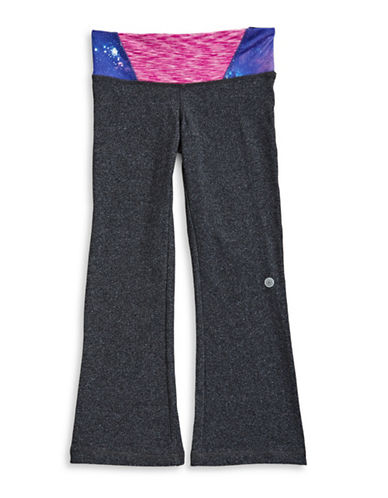 Jill Yoga Space Dye and Galaxy Accent Yoga Pants-GREY-6