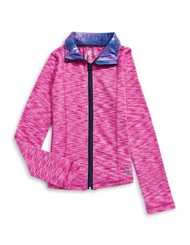 Jill Yoga Athletic Yoga Jacket-PINK-X-Large