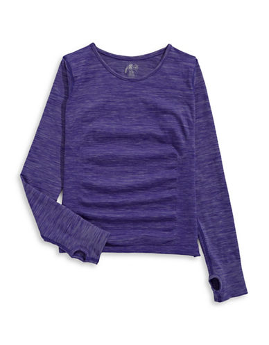 Jill Yoga Seamless Yoga Top-PURPLE-Large/X-Large