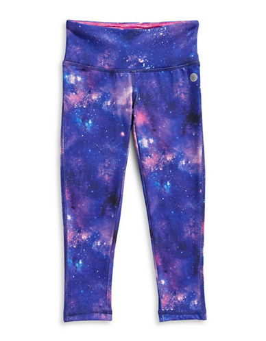 Jill Yoga Printed Yoga Leggings-BLUE-X-Large 89285123_BLUE_X-Large