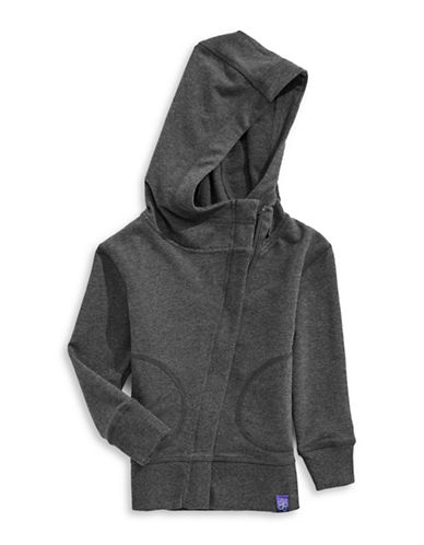 Jill Yoga Fleece Yoga Hoodie-GREY-Large