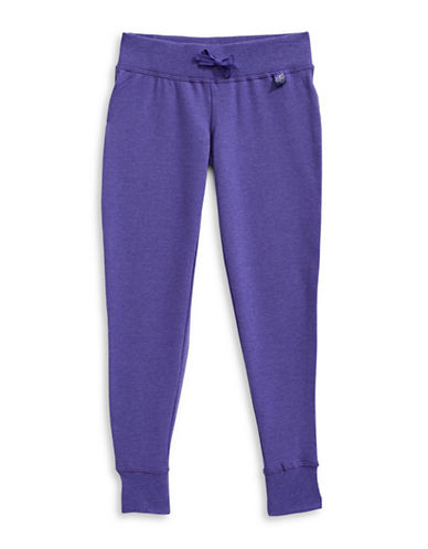 Jill Yoga Fleece Jogger Pants-PURPLE-Large