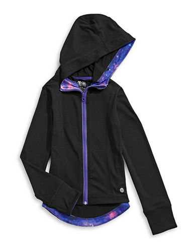 Jill Yoga Speckled Hoodie-BLACK-Medium