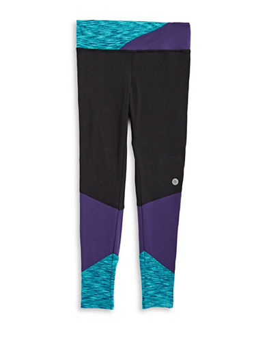 Jill Yoga Print-Blocked Leggings-BLACK-Medium 89402822_BLACK_Medium