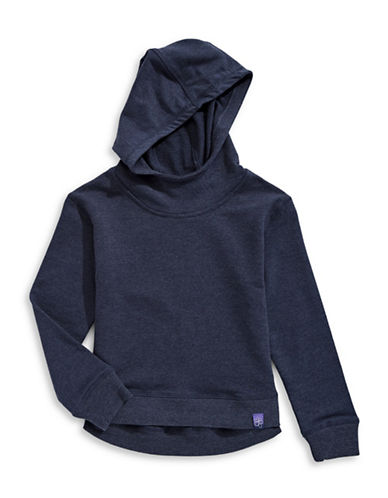 Jill Yoga Stretch Cotton Hoodie-NAVY-Small