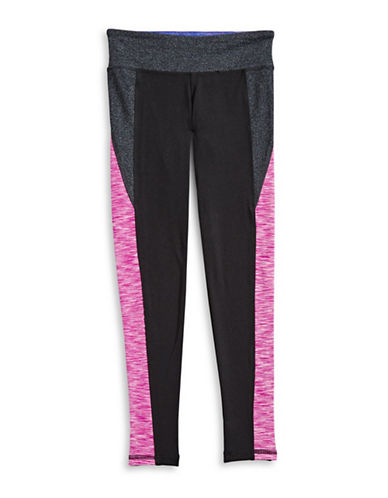 Jill Yoga Colourblocked Yoga Leggings-BLACK-X-Large 89633694_BLACK_X-Large