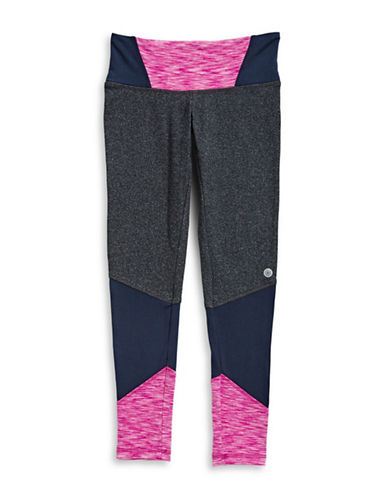 Jill Yoga Contrasting Panel Leggings-GREY-Small 89633695_GREY_Small