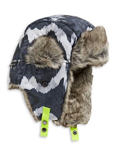 Winterproof Printed Trapper Hat-BLACK-4-6X