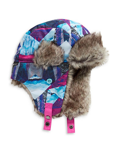 Winterproof Printed Trapper Hat-PINK-4-6X