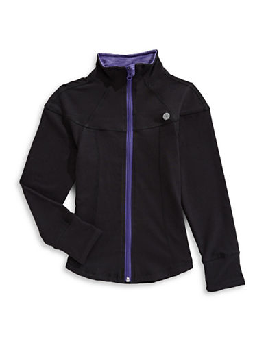 Jill Yoga Yoga Athletic Jacket-BLACK-14