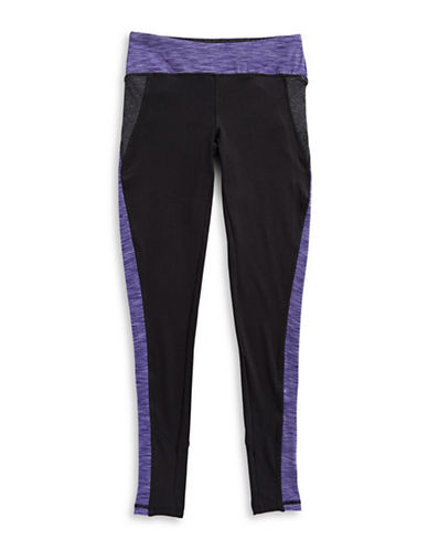 Jill Yoga Marled Colourblock Leggings-BLACK-14