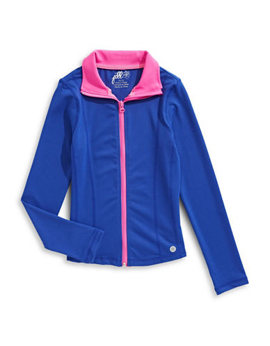 Jill Yoga Geo Wave Full-Zip Yoga Jacket-BLUE-2
