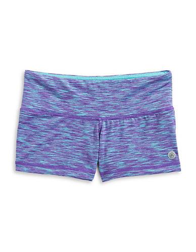 Jill Yoga Printed Stretch Shorts-PURPLE-5 89973958_PURPLE_5