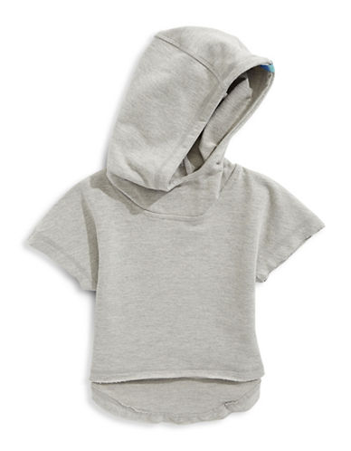 Jill Yoga Short Sleeve Hoodie-GREY-Small