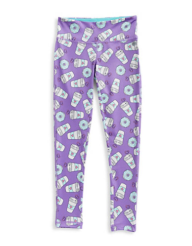Jill Yoga Geo Wave Printed Novelty Leggings-PURPLE-5 89973867_PURPLE_5