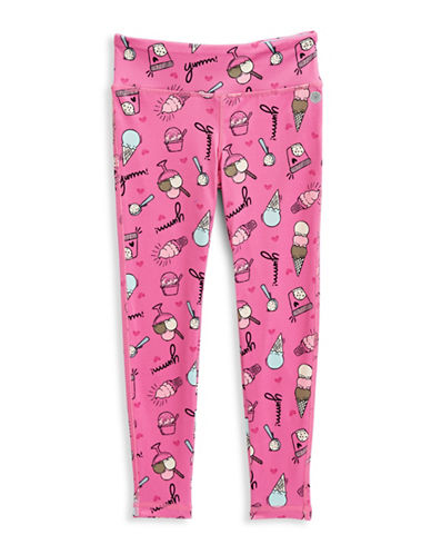 Jill Yoga Printed Novelty Yoga Leggings-PINK-3