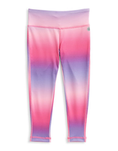 Jill Yoga Printed Novelty Yoga Leggings-PINK/BLUE-3