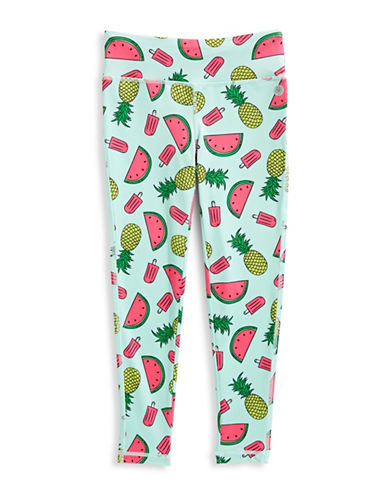 Jill Yoga Printed Novelty Yoga Leggings-GREEN-3