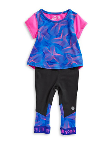 Jill Yoga Logo Top and Leggings Set-PINK-18-24 Months 89804059_PINK_18-24 Months
