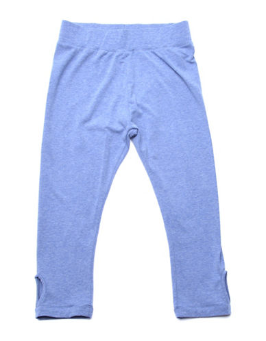 Preview Heathered Keyhole Pants-BLUE-10