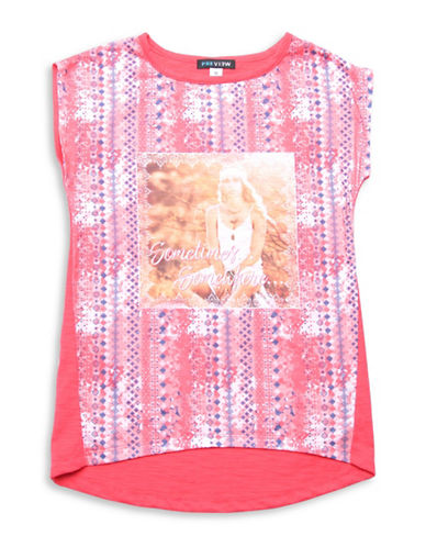 Preview Graphic Hi-Lo Tee-CORAL-8