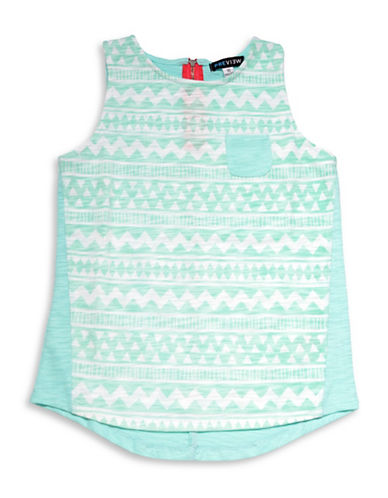 Preview Aztec Printed Tank-BLUE-8