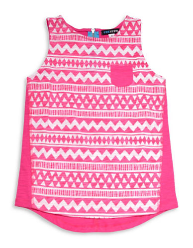 Preview Aztec Printed Tank-PINK-8