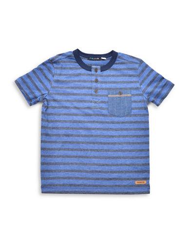 Preview Stripe Henley T-Shirt-BLUE-7