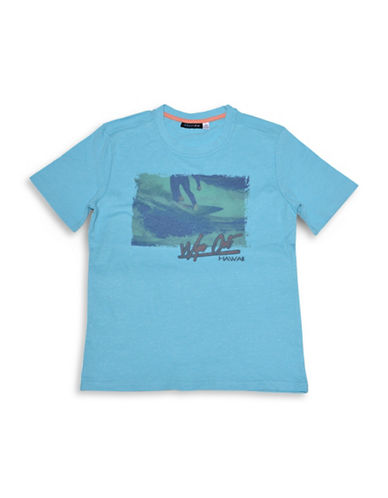 Preview Screen Printed Tee-BLUE-Small