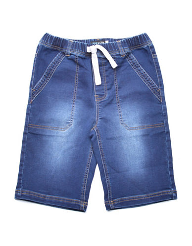 Preview Stitch Denim-Look Shorts-BLUE-X-Large 88983063_BLUE_X-Large