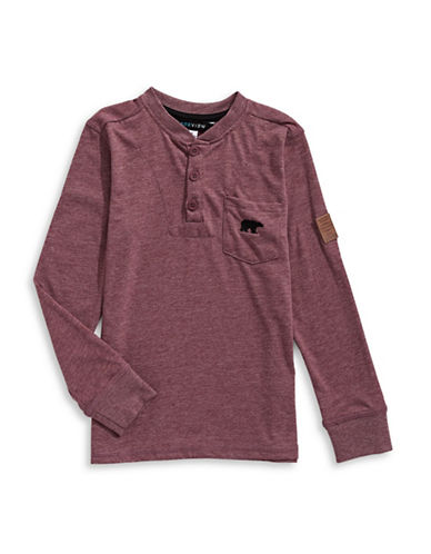 Preview Crew Neck Henley-BURGUNDY-5