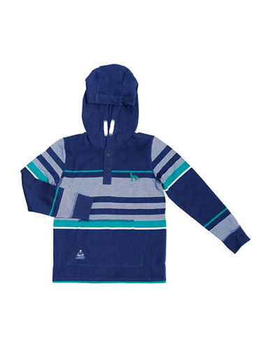 Preview Yarn Dye Stripe Hoodie-BLUE-2