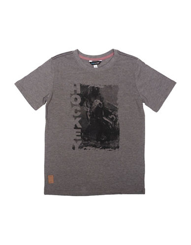 Preview Heathered Hockey Graphic Tee-GREY-Medium
