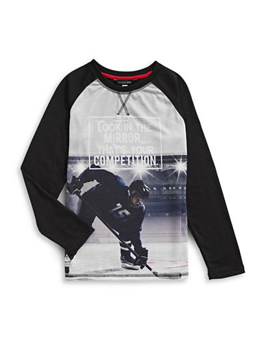 Preview Raglan Hockey T-Shirt-BLACK-Large