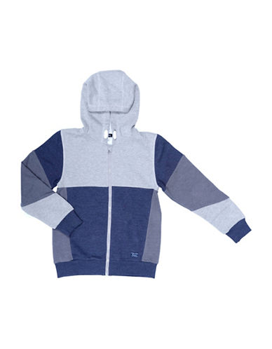 Preview Colourblock Zip Hoodie-BLUE-Small