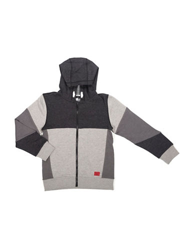 Preview Colourblock Zip Hoodie-BLACK-Medium