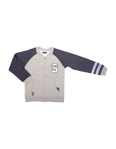 Preview Raglan Contrast Sleeve Jacket-GREY-Medium