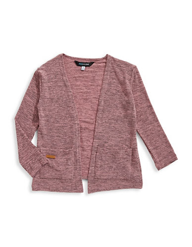 Preview Open Knit Cardigan-PINK-6