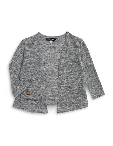 Preview Open Knit Cardigan-GREY-2T