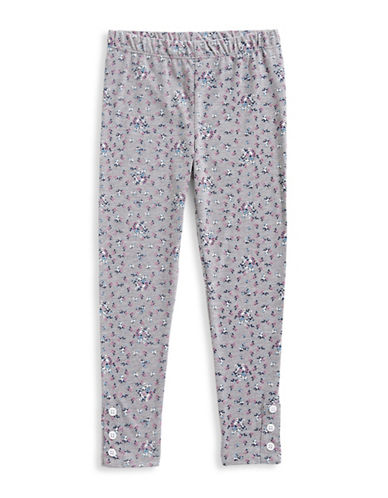 Preview Floral-Printed Leggings-GREY-3T