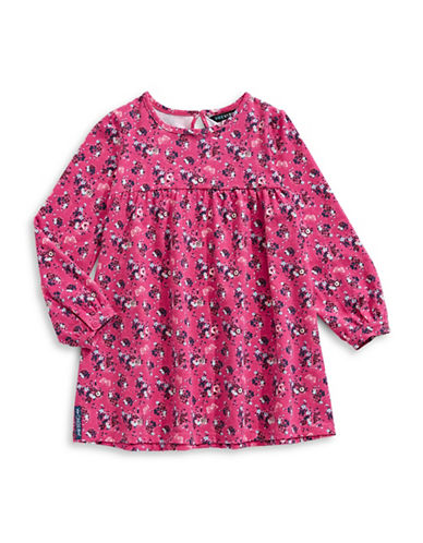 Preview Floral T-Shirt Dress-PINK-2T