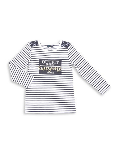 Preview Striped Top-WHITE-5