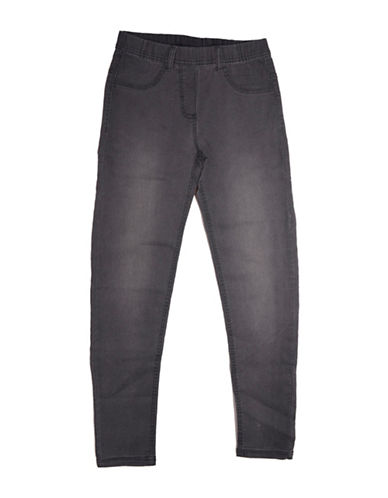 Preview Faded Denim Jeggings-GREY-7