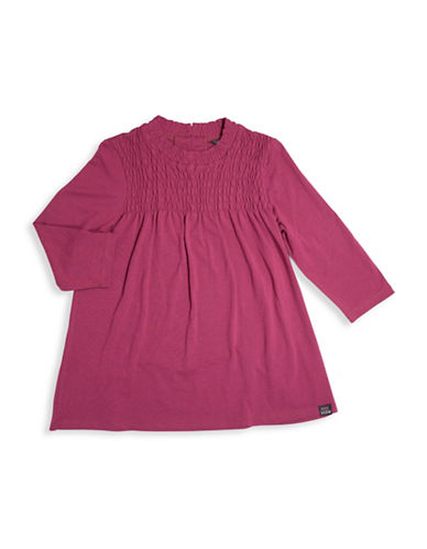 Preview Smocked Tunic Top-RED-14
