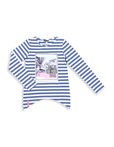Preview Striped Tunic Top-BLUE-10