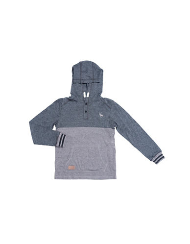 Preview Colourblock Hoodie-BLACK-Large