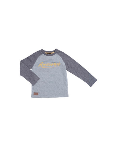 Preview Awesome Raglan Sleeve Tee-GREY-3