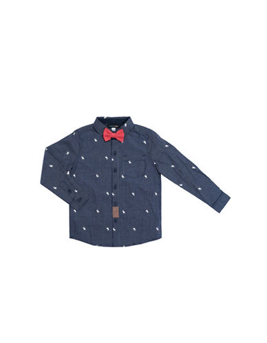 Preview Reindeer Cotton Collared Shirt-BLUE-2