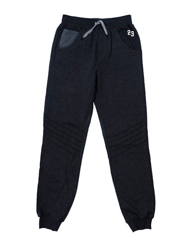 Preview Heather Jogger Pants-BLACK-Small